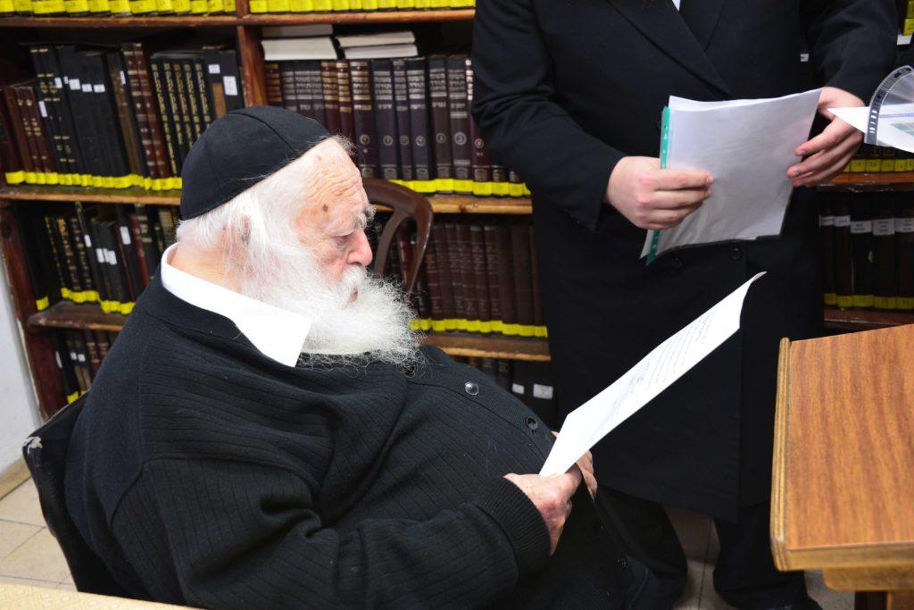הרב קנייבסקי בקראית גדולי ישראל לרכוש קרקע לשמיטה