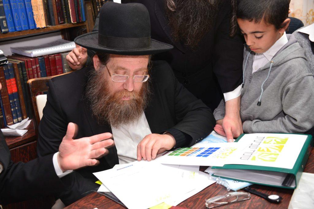 הרב רוזנבלט מסתכל על הרבנים שחתמו לקנות קרקע לשביעית