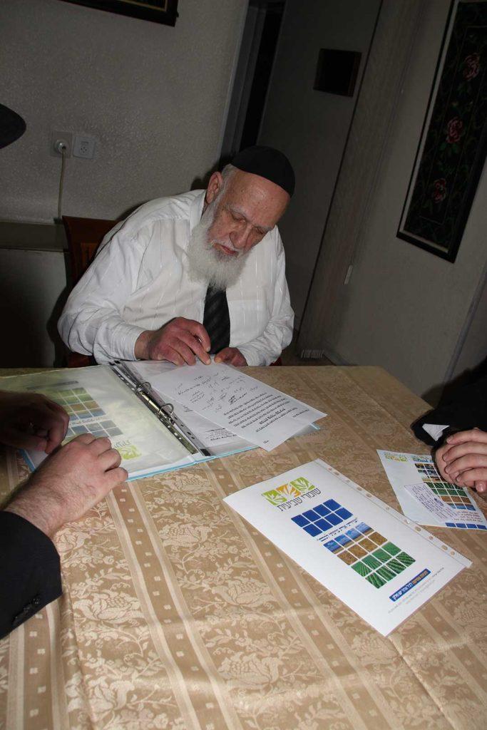 הרב שלום כהן חותם על הקריאה לקנות קרקע לשביעית