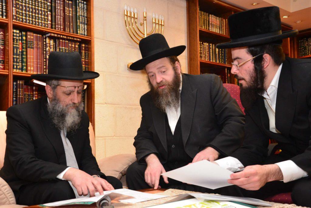 הרב דוד יוסף בשיח עם רבני אגודת שמיטה