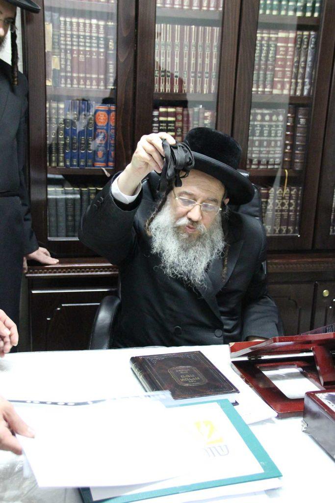 האדמור מזוויל מצטרף לברכת הרבנים לאגודת שמיטה